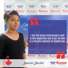 We would like to congratulate Anila Patel on attaining her #studentvisa for #Canada!  All the best for the future from Kanan International