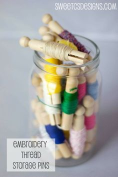 Embroidery Thread Storage