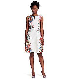 Adrianna Papell FloralPrint ALine Dress #Dillards