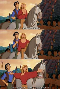 """I am Miguel, and I am Tulio, and they call us Miguel and Tulio!"" @Kristina Kilmer Tuohy"