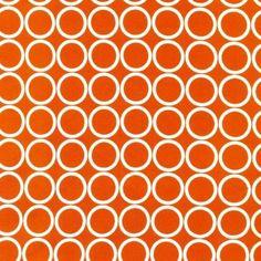 1/2 YARD Metro Living Circles Orange fabric by Robert Kaufman!