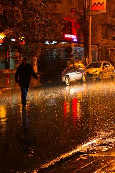 It doesn't rain it pours (Morocco) | by Geraint Rowland Photography Rain Street, Night Bus, City Car, Rainy Season, Ap Art, Spaceship, Street Photography, Morocco, Paintings