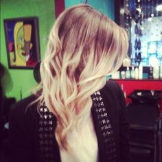 Blonde Ombre Hair.