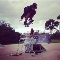 Big G Ollieing Over a Trolley  #ollie #skatepark #skateboarding #skating #skate #trolley #skatesessions #ramps #skatetricks #skatephotos #skatephoto #skatefootage