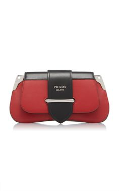 Textured Top Handle Bag with Buckle by PRADA for Preorder on Moda Operandi