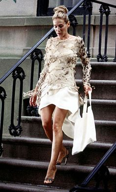 """sarah jessica parker. """" It's Cavalli and I love it and I threw it out. What more do you want from me!"""""""