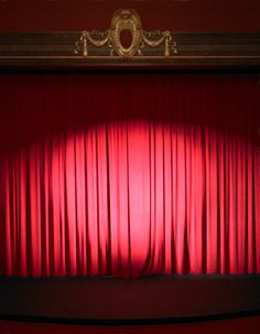 Empty Stage With Curtains Closed And Spotlight On Royalty-free Image | Getty Images AU | sb10067018a-001
