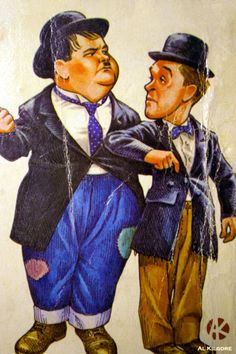 Stan and Oliver - laurel-and-hardy Fan Art
