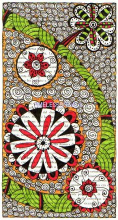 lots of good doodle examples to show clients now! Tangle Doodle, Tangle Art, Doodles Zentangles, Zen Doodle, Doodle Art, Doodle Inspiration, Art Journal Inspiration, Doodle Patterns, Zentangle Patterns
