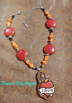Cowgirl's Burnin Love Necklace A BuckarooBay.com Original Buckaroo Bay Cowgirl Jewelry & Western Accessories