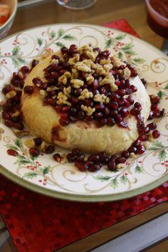 Pomegranate Walnut Baked Brie
