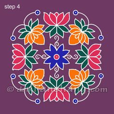Dot Rangoli Step 4