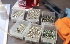 Impressly Produktion mit echten Swarovski Elements Steinchen.