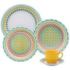 225,90- Aparelho de Jantar e Chá Oxford Daily Floreal Bilro J591-6770 - 30 Peças