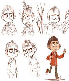 Paranorman Character Sketches