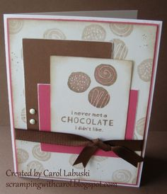very simple and quick CTMH August stamp of the month card