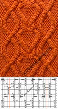 koshkaKoko stricken - koshkaKoko stricken Zopfmuster in Herz-Form, welches wir D - Cable Knitting Patterns, Knitting Stiches, Knitting Charts, Lace Knitting, Crochet Socks Pattern, Crochet Patterns, Stitch Patterns, Cable Chart, Baby Converse