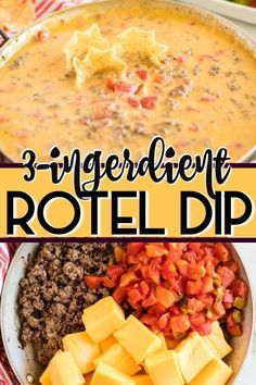 Rotel Dip {Only 3 Ingredients!} – Princess Pinky Girl Rotel Dip {Only 3 Ingredients!} – Princess Pinky Girl,Want…Need…Love! Rotel Dip is an easy appetizer recipe with ground beef, Rotel, and Velveeta cheese! Easy Appetizer Recipes, Yummy Appetizers, Appetizers For Party, Cheese Appetizers, Easy Appitizer, Easy Party Dips, Easy Dip Recipes, Party Appetisers, Easy Party Food
