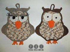 Owl Potholder Mr & Miss ~ free pattern
