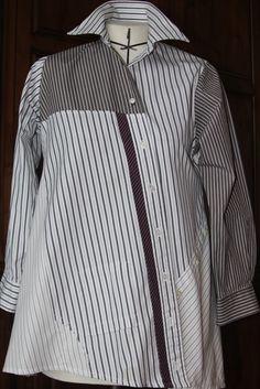 Pat Congleton - Recycled Men's Dress Shirt - Voque pattern #1274 by Lynn Mizono