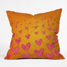 Isa Zapata Love Shower Orange Outdoor Throw Pillow | DENY Designs Home Accessories