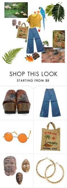 """give me a tropical contact high..."" by horrorseed ❤ liked on Polyvore featuring John Fluevog, H&M and Sur La Table"