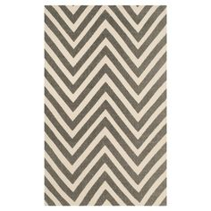Grey/Ivory Abstract Loomed Rectangle A