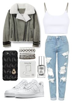 """outfit"" by kwharmony on Polyvore featuring Topshop, Alexander Wang, NIKE, OtterBox, Happy Plugs and Charlotte Russe"