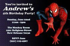 spiderman invitations - Google Search