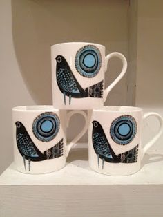 Jane Ormes-Printmaker: Mugs !