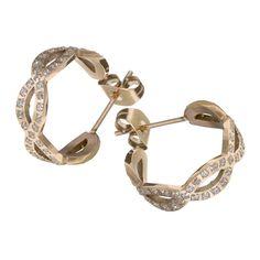 Ingnell Jewelllery - Infinity earring rose. Stainless steel. www.ingnelljewellery.com
