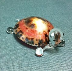 Hand Blown Glass Turtle Reptile Sea Animal by thaicraftvillage