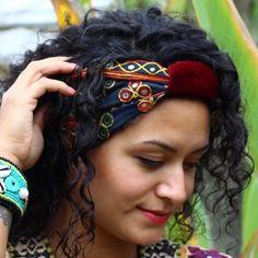 India - headband - black