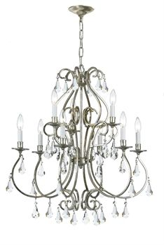 Buy the Crystorama Lighting Group Olde Silver Direct. Shop for the Crystorama Lighting Group Olde Silver Ashton 9 Light Wide Chandelier with Clear Hand Cut Crystals and save. Silver Chandelier, Globe Chandelier, Lantern Pendant, Chandelier Lighting, Light In, Candelabra Bulbs, Light Bulb Types, Ceiling Lights, Dining Room