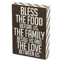 """Bless the Food"" Box Sign Art"