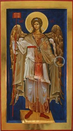 Religious Images, Religious Icons, Religious Art, Byzantine Icons, Byzantine Art, Archangel Michael, Archangel Gabriel, Angel Drawing, Russian Icons