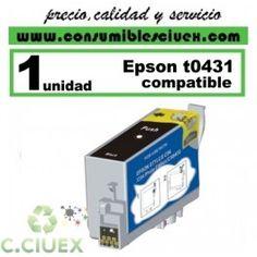 CARTUCHO NEGRO COMPATIBLE EPSON T0431