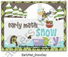 Early Math Snow Day product from RFTS-Preschool on TeachersNotebook.com