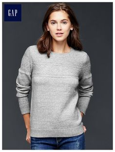 $59 - Gap Mixed-stitch pullover sweater, S in gray