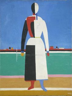 Kazimir Malevitch, Femme avec râteau, 1930-1932