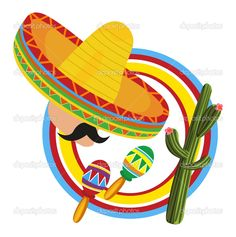 Illustration about Frame with a Mexican and symbols of Mexico. Illustration of clip, mariachi, maracas - 20719231 Mexican Party, Mexican Style, Free Frames, Cactus Decor, Illustrations, Vector Art, Art Decor, Party Themes, Clip Art