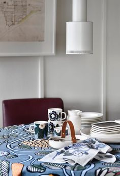 Marimekko Home (ännu en gång) Marimekko, Aw17, My Dream Home, Interior Styling, Home And Living, New Homes, Tableware, Kitchen, House