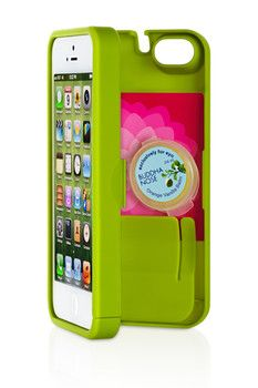 EYN Chartreuse Case for iPhone 5 & 5S (Holds Money, Cards, Keys, iPhone)