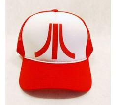 Boné - Trucker - Atari - Logo (Vermelho e Branco) f457420641a04