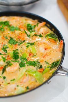 Prawn I kokos mjölk Asian Recipes, Healthy Recipes, Ethnic Recipes, Seafood Recipes, Cooking Recipes, Enjoy Your Meal, Pak Choi, Clean Eating, Healthy Eating