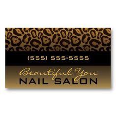 15 best nail salon business cards images on pinterest salon horizontal leopard print business card colourmoves