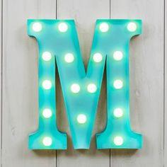 £44 Vegas Metal LED Circus Letter Light M - children's room accessories
