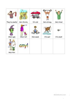 Adjectives Bingo set - English ESL Powerpoints for distance learning and physical classrooms Bingo Set, English Adjectives, Teaching Jobs, Bingo Cards, Reading Skills, Esl, Phonics, Elementary Schools, Distance