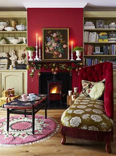 If you dare, red makes a room feel so warm and cosy!