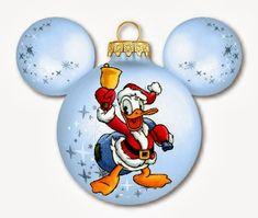 Imprimibles de Disney para Navidad con Donald y Daisy.